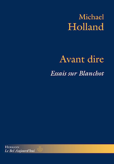 Avant dire | Michael Holland