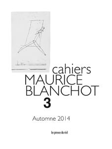 Cahiers Maurice Blanchot n�3